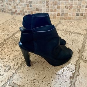 Stuart Weitzman Black  Open Boots...size 38 1/2